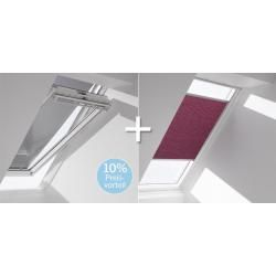Velux-wabenplissee & Markise Fop für Fenstergröße Pk06 1160 Gelb / Schwarz Ve…