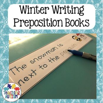 This resource contains 3 different, Winter themed preposition flip books. Each book contains 6 pages including the front cover, and 5 preposition pages. Students can look at the image at the end of the page showing the character - snowman, penguin or polar bear - in a different position with different objects.