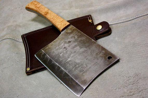 Cuchilla de la carne: 275 libras W2 acero al por HeirloomCraftsman
