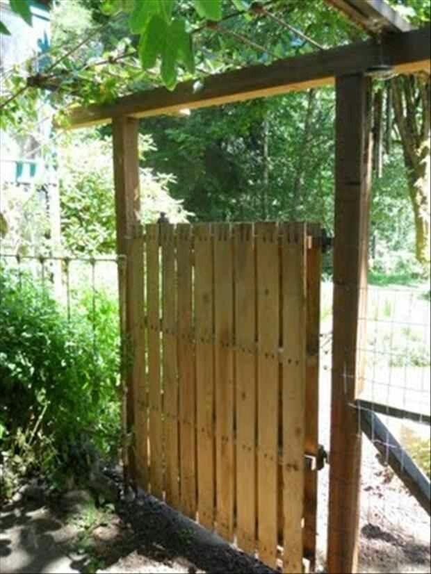 Pallet Garden Gate what kind of hinge