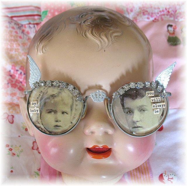 altered eye glassesAltered Eye, Altered Glasses, Dolls Head, Diy Gift, Mixed Media, Handmade Gift, Altered Art, Eyeglasses, Eye Glasses