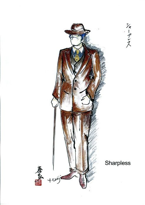 Costume sketch for Sharpless