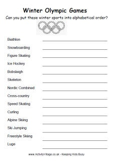 math worksheet : winter olympics alphabetical order olympics worksheet  : Math Olympics Worksheets