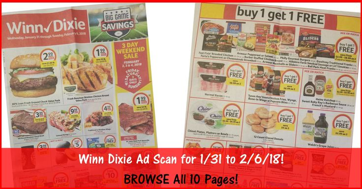 Who is ready to start working on their Winn Dixie Shopping List for 1/31? BROWSE all 10 Pages of the Actual Winn Dixie Ad Scan for 1/31 to 2/6/18 ► http://www.thecouponingcouple.com/winn-dixie-weekly-ad-1-31-18/  #Coupons #Couponing #CouponCommunity  Visit us at http://www.thecouponingcouple.com for more great posts!