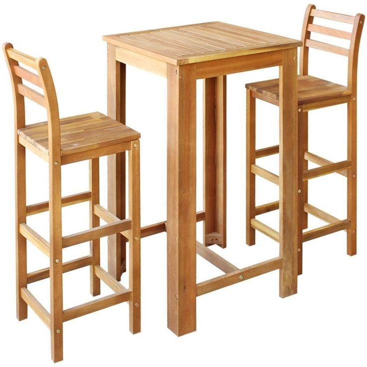 Breakfast Table Kitchen Space Saver Table And 2 Chairs Set Dining Bar  Furniture