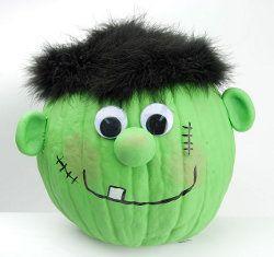 Frankenstein Pumpkin  http://www.favecrafts.com/Halloween-Kids-Crafts/Frankenstein-Pumpkin-from-DecoArt/ct/1
