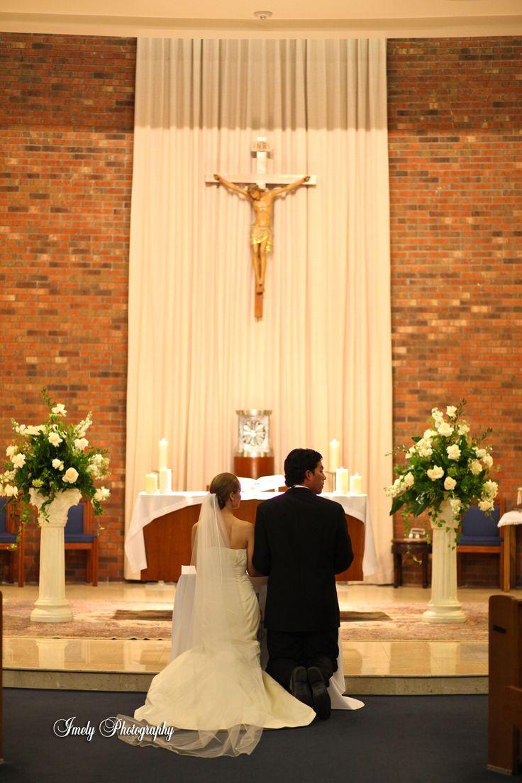 Church Wedding Floral Arrangement Our Wedding Couple