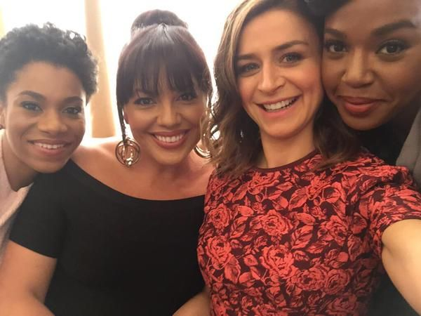 Kelly McCreary, Sara Ramirez, Caterina Scorsone, and Jerrika Hinton