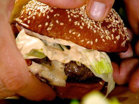 Fabulous LT Backyard Burger Chef Laurent Tourondel teaches Ina how he makes his LT Backyard Burger
