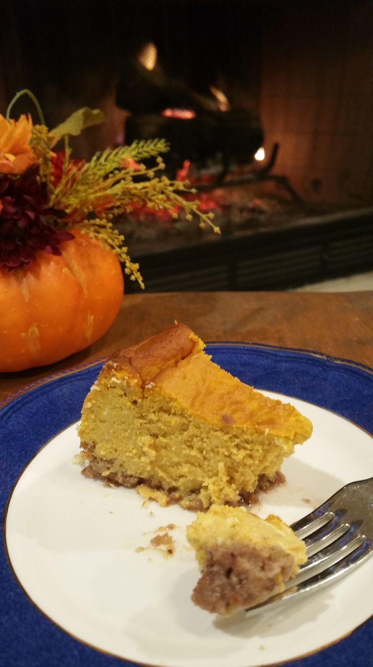 Reduced Sugar Layered Pumpkin Cheesecake For Thanksgiving Recipe ...