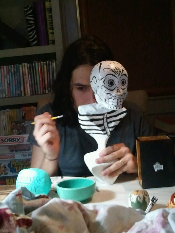 645 best images about dial see los muertos on pinterest for Cool paper mache