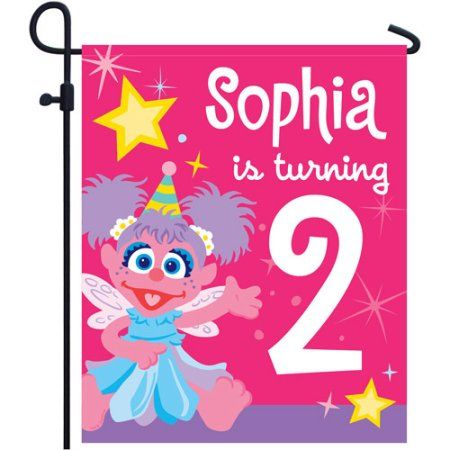 Personalized Sesame Street Abby Cadabby Birthday Yard Sign, Multicolor