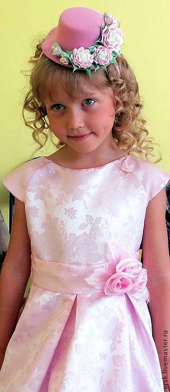 """Купить Шляпка на ободке """"На розовых облаках"""" - розовый, канзаши, шляпка для девочки, шляпка с цветамиhttp://www.livemaster.ru/orsk"""