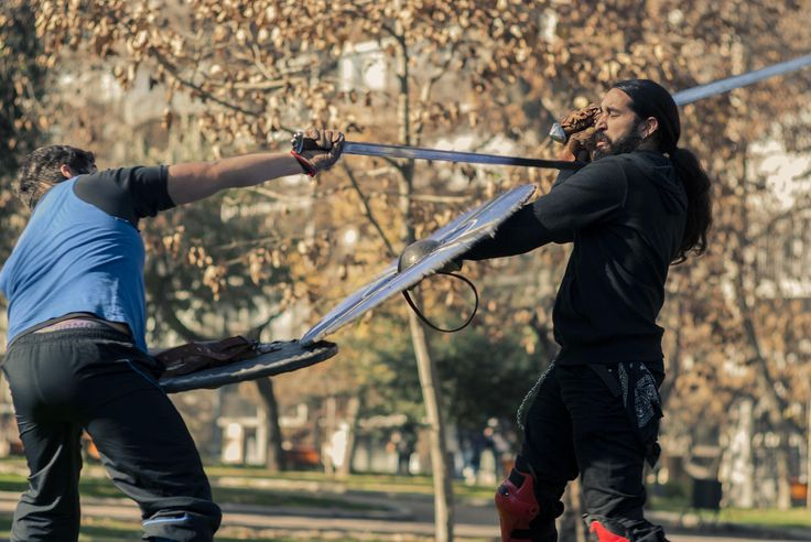 https://flic.kr/p/vgQPZ1 | Guerreros en el parque | Sunnan, recreación y esgrima histórica.