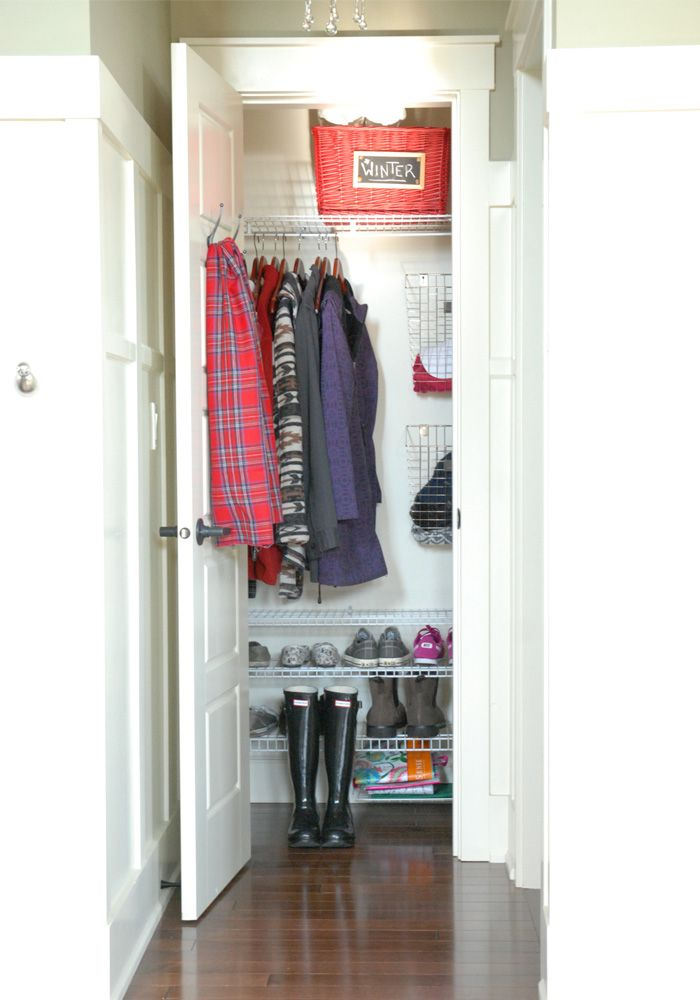 Add Shelving To Downstairs Coat Closet For All The Shoes I Trip On