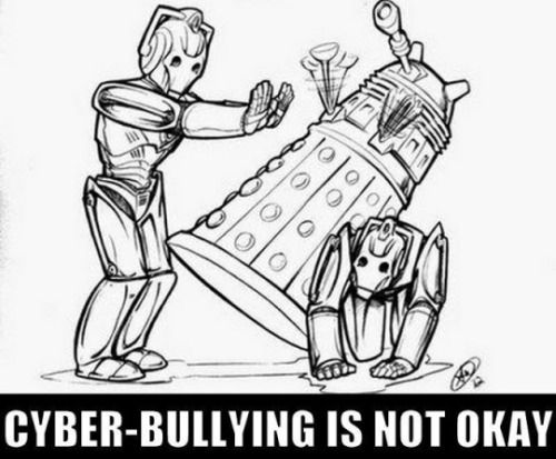 Don't do it, kids. Even when someone seems to have a hard shell they're likely to be soft on the inside. Respect difference.