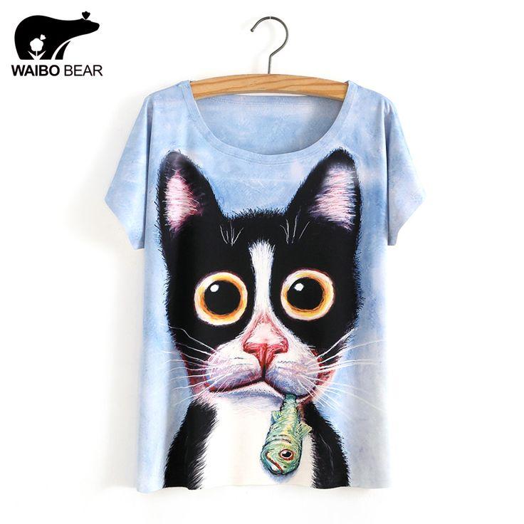 Newest Funny 3D Tops Women Unisex Animal Print t shirt Cute Dog Print T Shirts Summer Tops Tees Free Ship