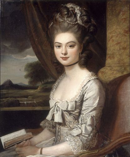 """antonioedsoncadengue: """" history-of-fashion: """" 18th c Sir Nathaniel Dance-Holland - Portrait of Miss Hill """" Please follow me: http://antonioedsoncadengue.tumblr.com/archive """""""