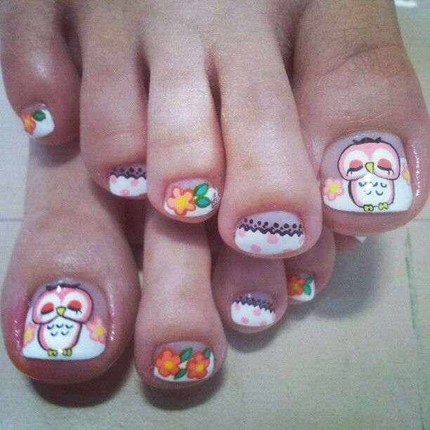 Toe Nail Art Tutorials: 131 Best Nails ~ Owls Images On Pinterest