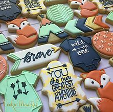 Tribal Baby Shower Cookies - Cookie Momster by Hilary