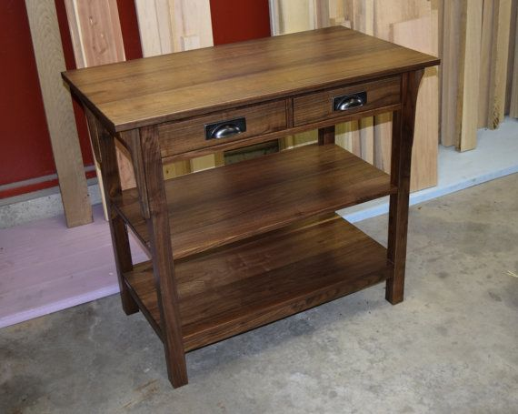 Craftsman Console Table by WalnutAveWoodworking on Etsy