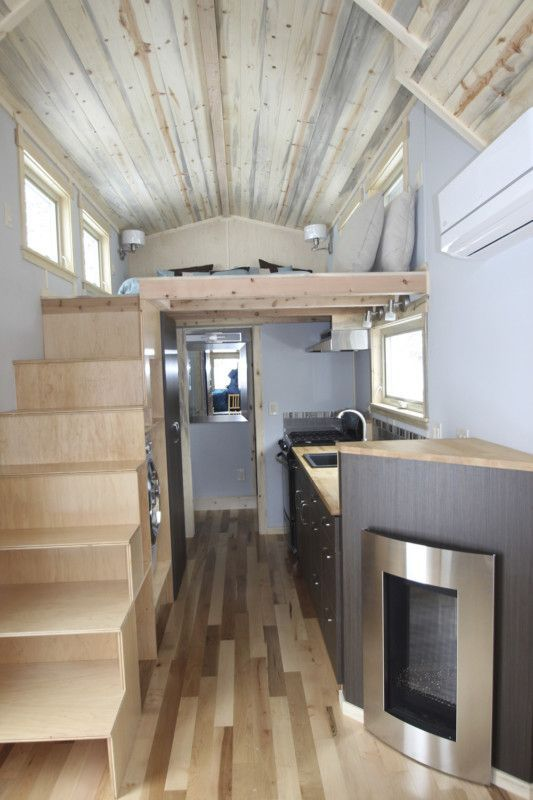 Tiny House Tiny home with propane fireplace stove full kitchen. mobile: