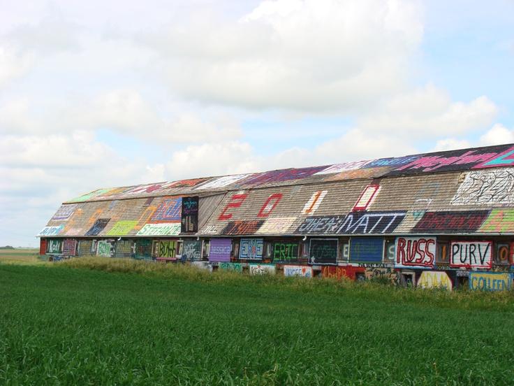 Graffiti Barn outskirts of Kerrobert