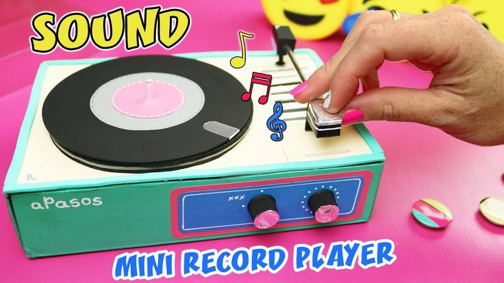 MAKE A GIFT WITH MUSICAL MESSAGE - MINI RECORD PLAYER THAT SOUND | aPasos Crafts DIY - YouTube
