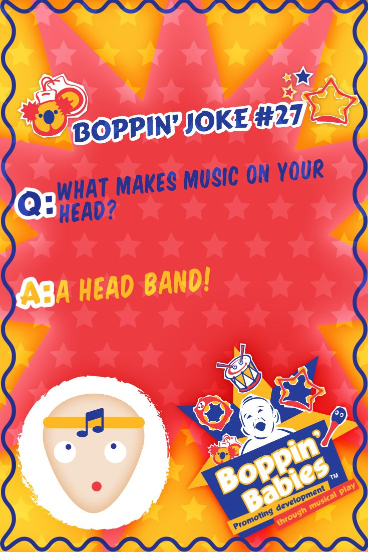 Q:What makes music on your head? A: A head band! #FridayFunny