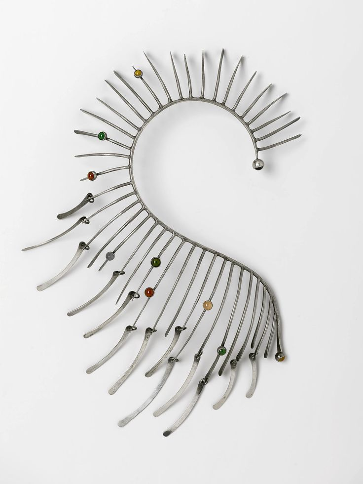 The Modernist Jewelry of Art Smith  Metallic Boa Necklace, circa 1964