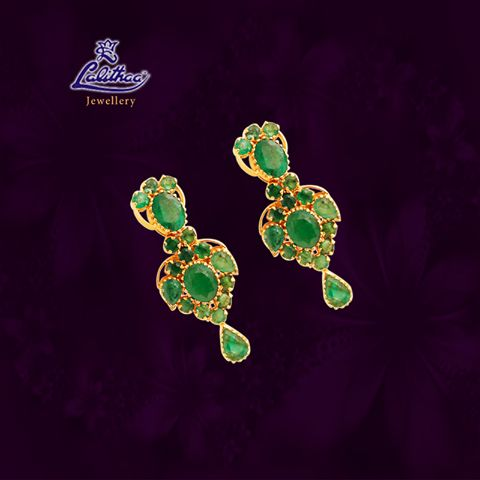 LALITHAA_JEWELLERY Specially designed Ruby earring that enhances your beauty in additional.... #lalithaajewellery.  Ruby Earrings in Chennai Buy Ruby Earrings Online Ruby jewellery Earrings