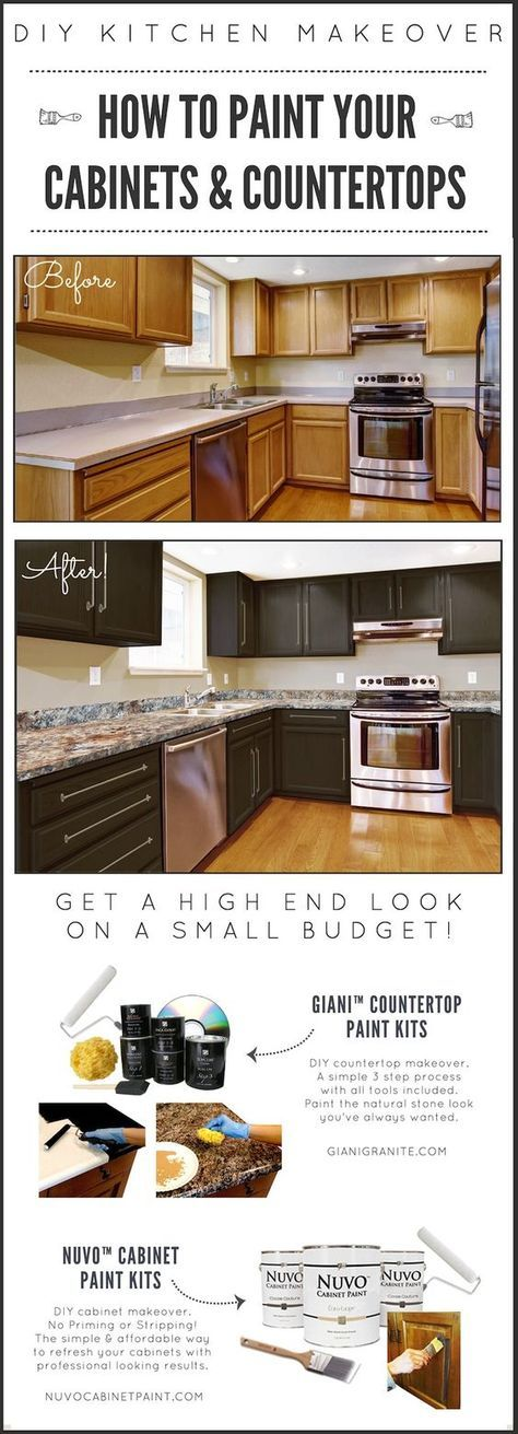 "Read More"" DIY Kitchen Makeover on a Budget. Prior to as well as After. Giani…"