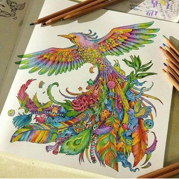 Finished My Saturdayeveningproject Coloring Kerbyrosanes Animorphia Animorphiacolouringbook
