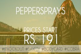 Pepper Spray Online - Safety in Hand of Women - Price starts from Rs. 191