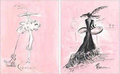 paris poodle art   Poodles, Paris and a Pink Bedroom - Design Dazzle