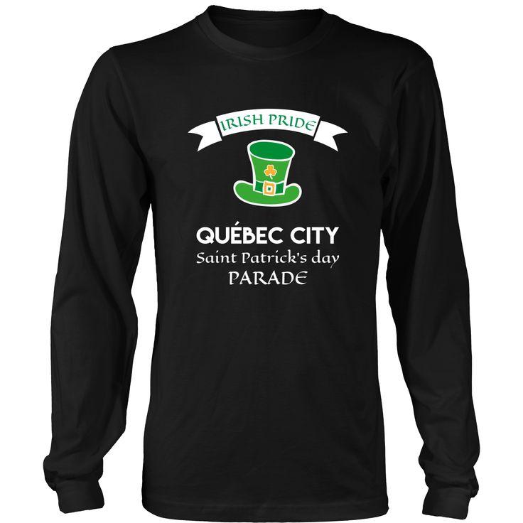 """Saint Patrick's Day - """" Quebec City Canada Irish Pride Parade """" - custom made apparel."""
