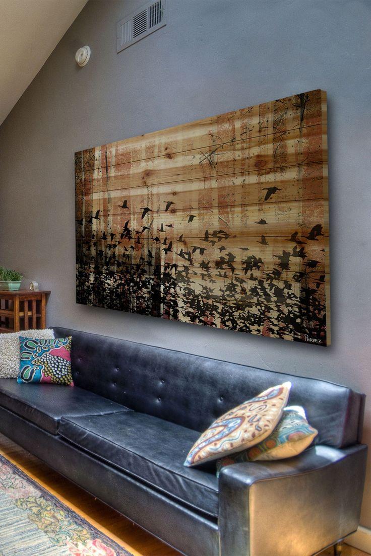 Beautiful Bird Print Wood Wall Art