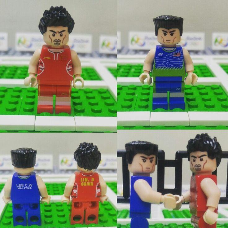 Lin Dan and Lee C W lego custom minifigure