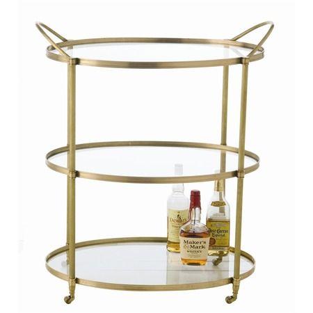 Connaught Polished Brass Bar Cart