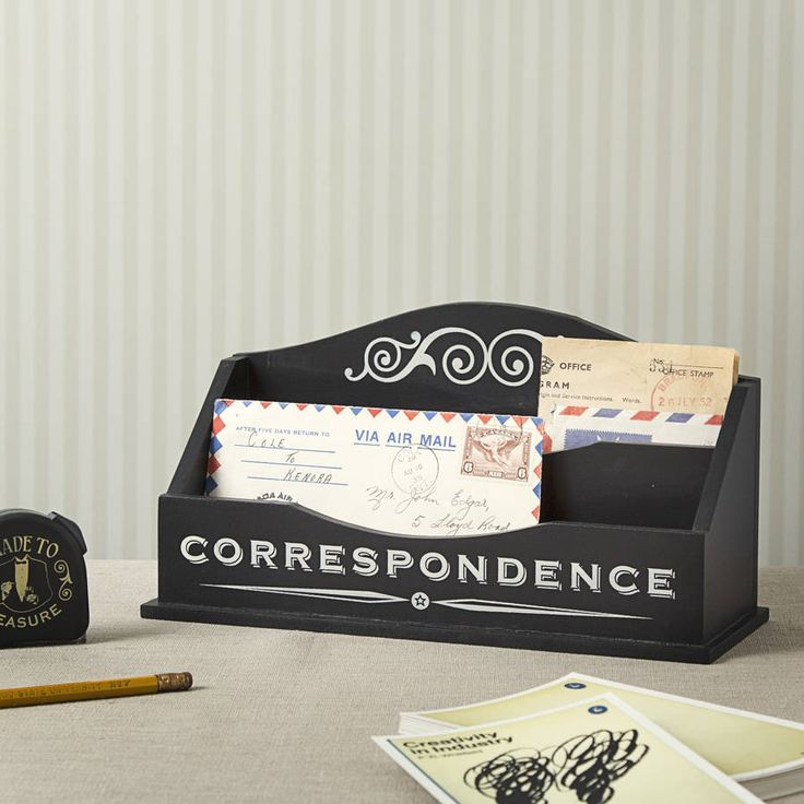 mailing letter format%0A Black Correspondence Letter Rack