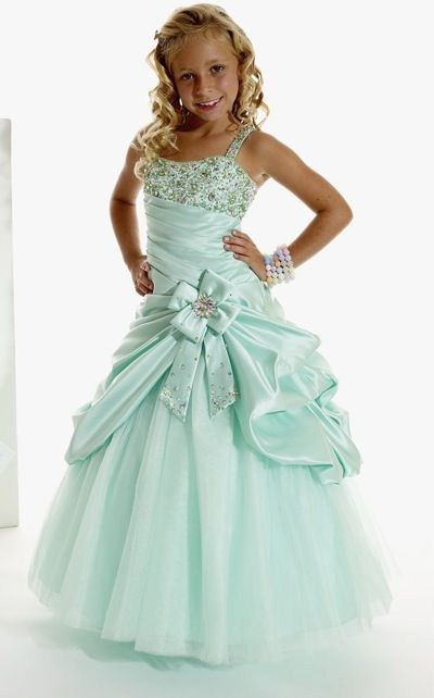 Tiffany Princess Girls Satin and Tulle Pageant Dress 13263 at frenchnovelty.com $289.99