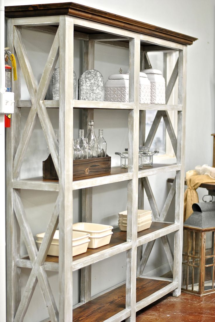 Grayton - Tall Bookcase featuring reclaimed wood shelving