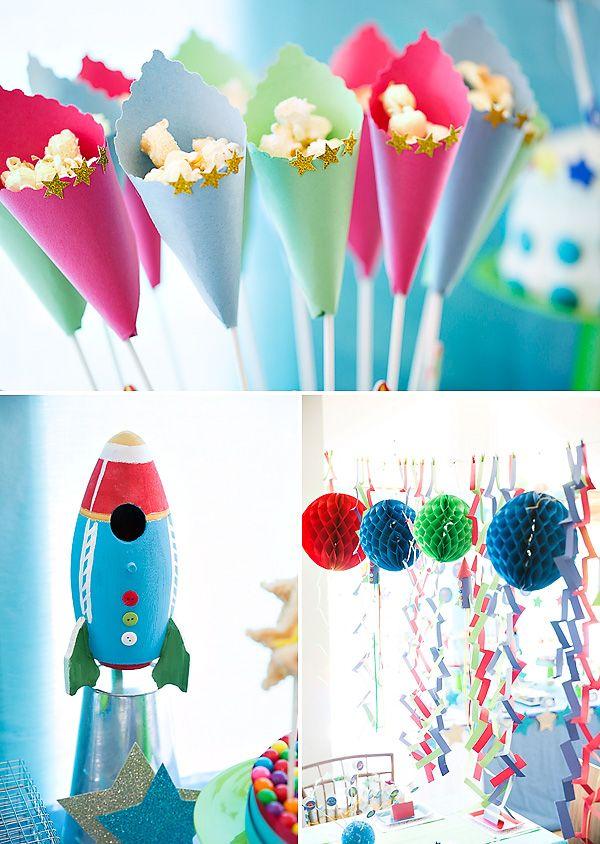 Divertidas decoraciones para tu fiesta espacio / Fun decorations for your space party