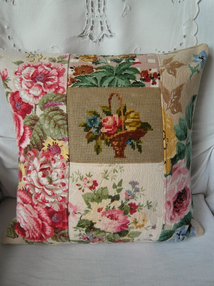 Vintage fabric cushion. See, this is why I never throw any scraps of anything out. I still have stuff I've saved from the 60's. I started saving as an infant, you know.
