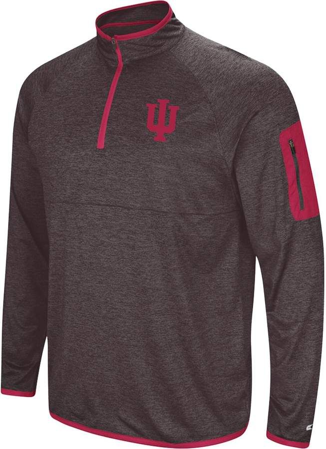 Men's Colosseum Black Indiana Hoosiers Amnesia Quarter-Zip Pullover Jacket