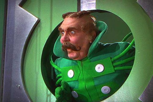 """""""Who rang that bell?"""" - Frank Morgan  in one of several roles he had in this movie."""