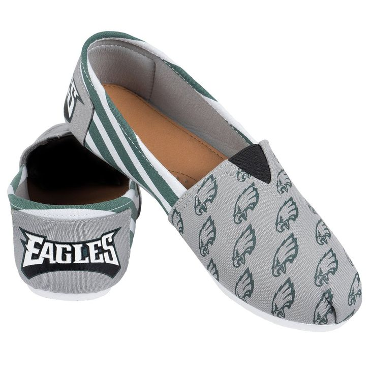 Philadelphia Eagles NFL Womens Canvas Stripe Shoes