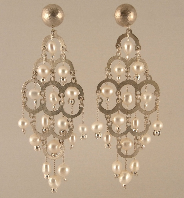 Stunning sterling silver earrings available with either sterling silver beads or pearls, can be made as a stud or hook. Just $150(AUD) from mhoriginals.com.au ❤