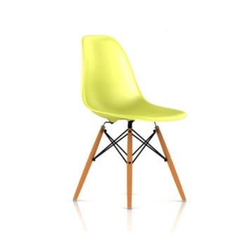 Herman Miller ® Eames DSW - Molded Plastic Side Chair with Dowel-Leg Base kitchen chairs