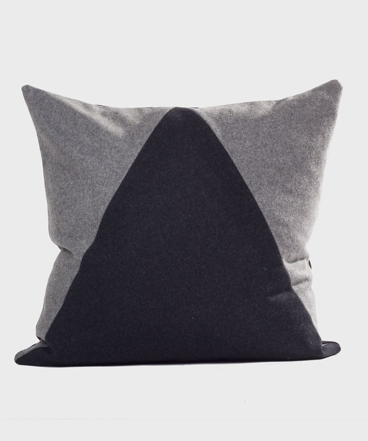 Wool Pillow | Triangle - Charcoal